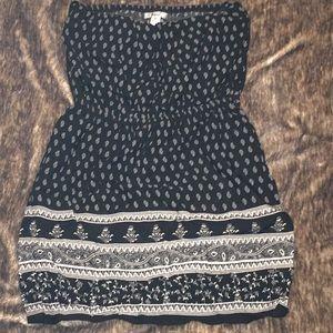 Cute & Beachy, Black & White, Strapless Dress